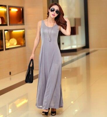 Летнее платье для женщин модное повседневное Макси платье размера плюс черные платья Бохо сарафан вечерние элегантные женские платья - Цвет: gray vest