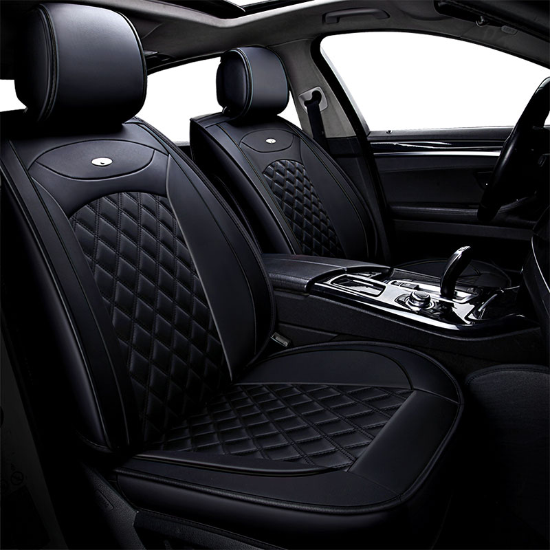 Toyota Tundra Seat Covers >> 5 Seat Leather Car Seat Cover Universal Auto Seat Cushion For Toyota Tundra Venza Verso Land 80 100 200 Prado 120 150 Fj Cruiser In Automobiles Seat