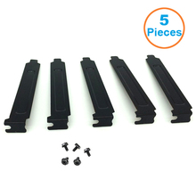 5 قطعة/الوحدة الأسود الصلب الصلب PCI فتحة يغطي قوس ث/مسامير ، كامل الشخصي توسيع الغبار تصفية طمس لوحة ل PCI