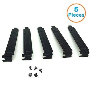 Image 1 - 5 teile/los Schwarz Harten Stahl PCI Slot Abdeckungen Halterung w/Schrauben, volle Profil Expansion Staub Filter Stanzen Platte für PCI