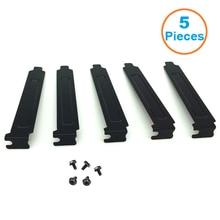 5pcs/lot  Black Hard Steel PCI Slot Covers Bracket w/ Screws, Full Profile Expansion Dust Filter Blanking Plate for