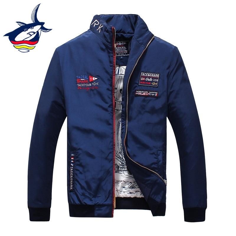 Originální značka Pánské bundy a kabáty Luxusní Tace & Shark Vyšívací bunda Mužské oblečení Jarní podzim Pánské bundy