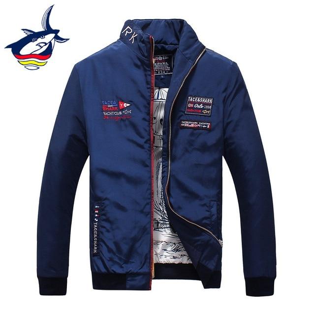 3bf8c04db36b Оригинальный бренд мужские куртки и пальто Роскошные Tace & Shark Вышивка  куртка мужская одежда весна осень