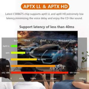Image 3 - Bluetooth 5.0 nadajnik odbiornik daleki zasięg Audio Adapter do TV PC słuchawki, aptX HD, krótki czas oczekiwania, podwójny Link, optyczny RCA 3.5mm