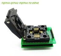 HAILANGNIAO 1pcs IC CHIP PROGRAMMER SOCKET TQFP44 QFP44 PQFP44 TO DIP40 Adapter Socket Support MPU 51