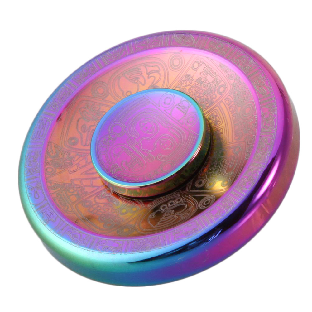 US $7 53 |Colorful Maya Clouds Stress Relief Toy Fidget Spinner Round Cake  Shape Metal EDC Hand spinner-in Fidget Spinner from Toys & Hobbies on