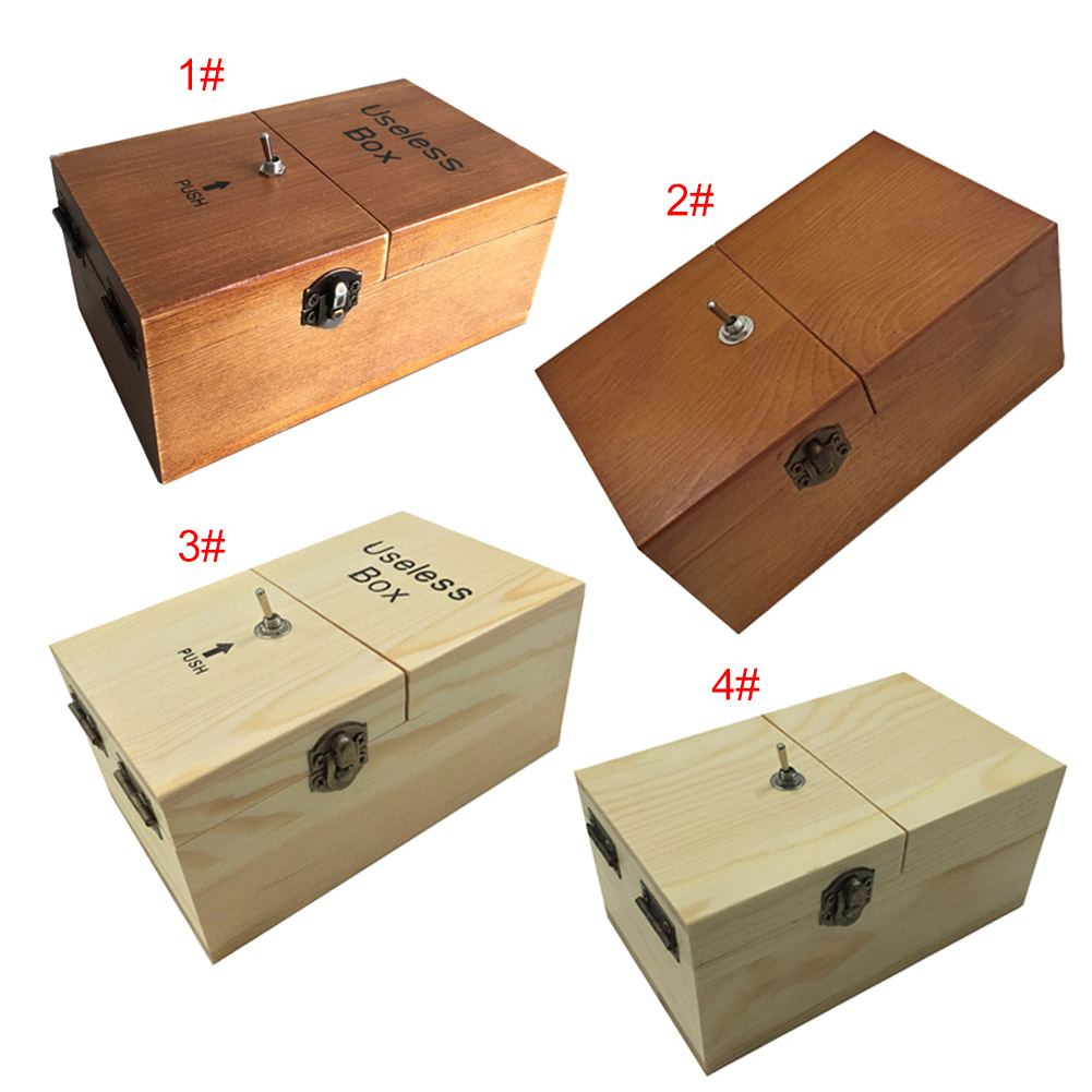 Electronic Useless Box Wooden Boy Girl Kid Interesting Pastime Machine Stress Reduction Funny Toy Desk Decoration Gifts шкатулки trousselier музыкальная шкатулка wooden box жираф
