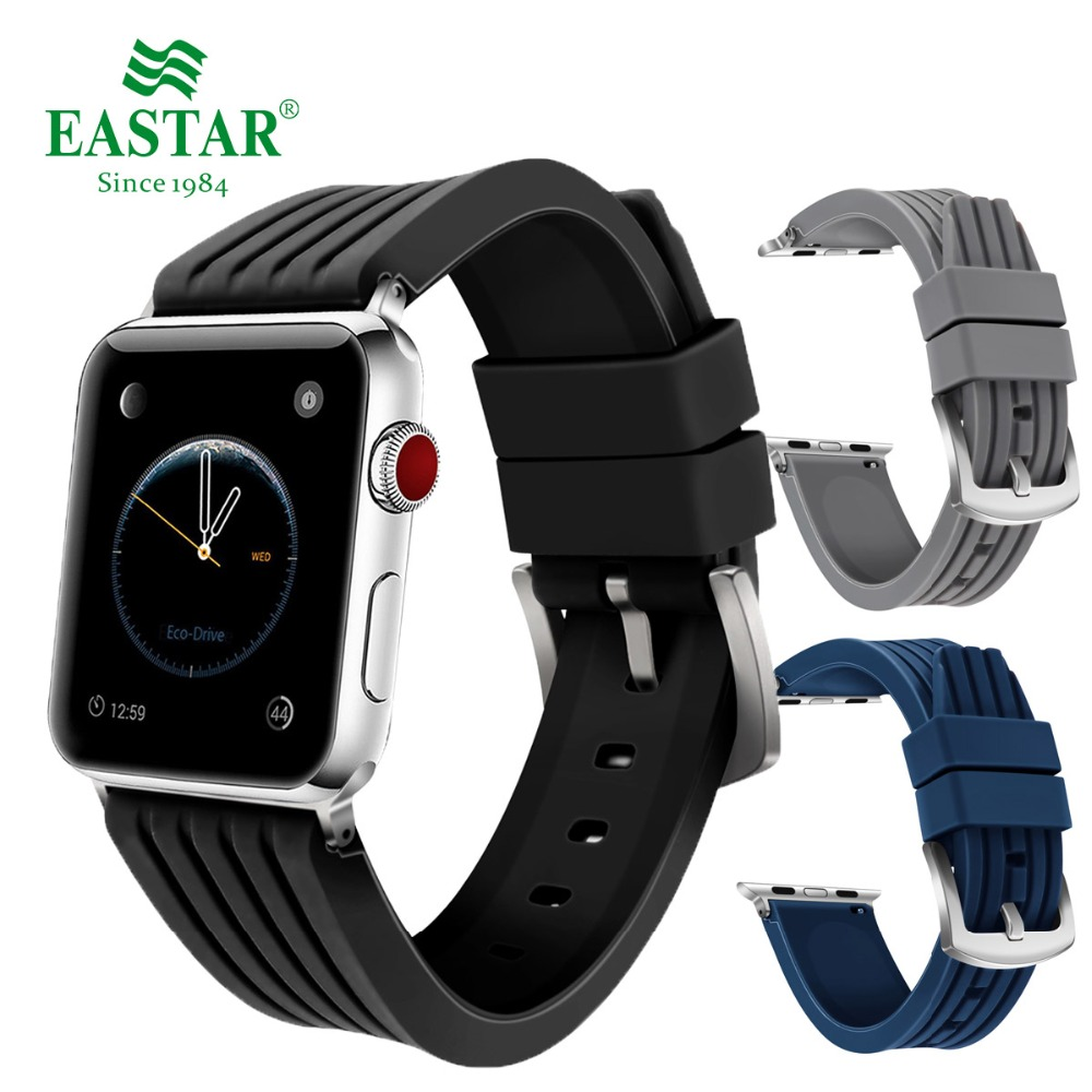 Eastar Silicone Replacement Sport Band Colorful Watchband For 38mm Apple Watch 5 3 2 1 44mm Wrist Bracelet Strap For IWatch 4