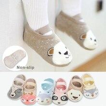 1 Pair Fashion Baby Girls Boys Cute Cartoon Non-slip Cotton Toddler Floor Socks