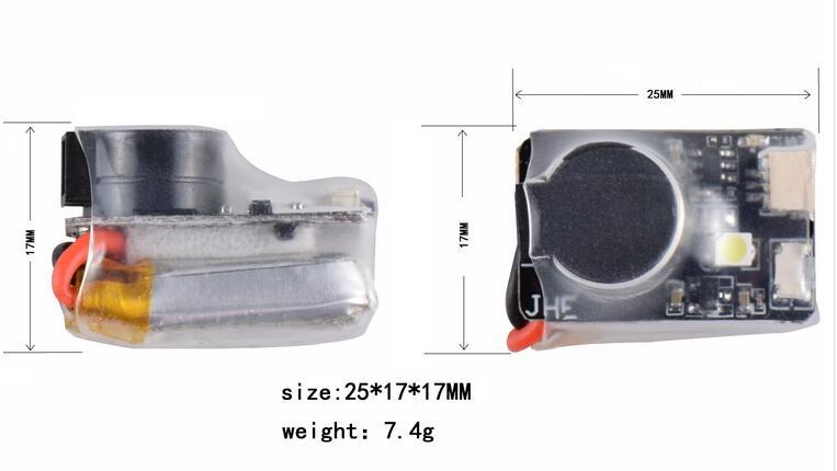 ViFly Finder JHE42B 5V Super Loud Buzzer Tracker 110dB with LED Buzzer Alarm For Multirotor FPV Racing Drone Flight Controller (7)