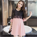 2016 New Large Size Maternity Dress Fashion Maternity Long-sleeved Dress Big Yards Large