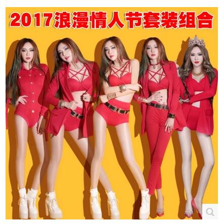 Body suit women DJ sexy nightclub dj stage costumes for singers bar ds clothing Valentine s Day Party Dresscombinaison femme ...