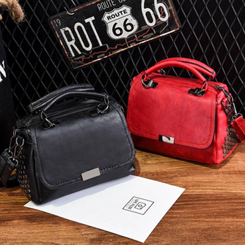 Leather Women handbag Vintage Women Messenger Bag Fashion Female Shoulder Bag Stlye Women Bag Tote Briefcase