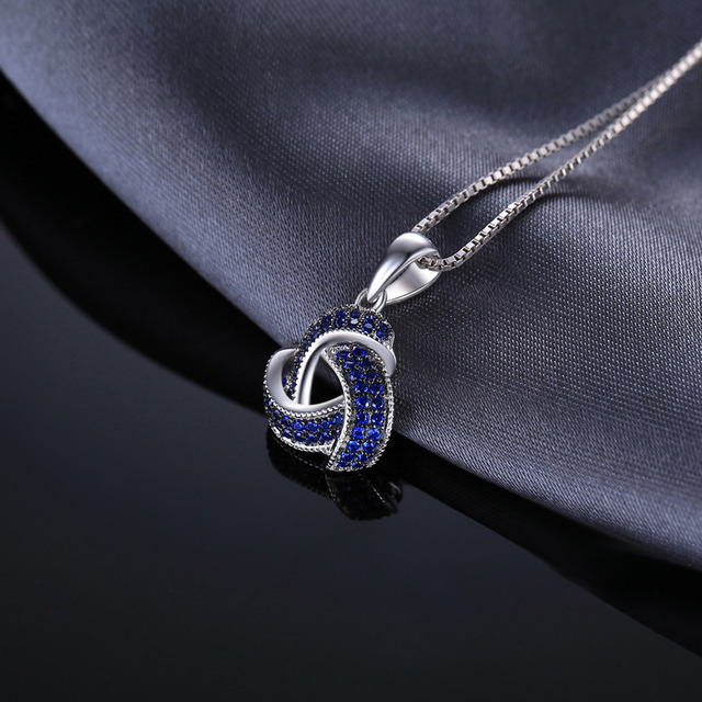 0.5ct Created Blue Spinel Flower Wraparound Cluster Pendant 3