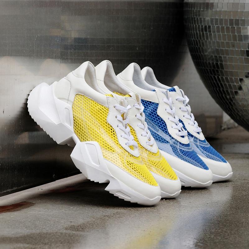 Verano Del Zapatos Deporte Las Cuero Transparente Calzado Dedo Redondo Pie Pvc Torpe Zapatillas amarillo Casuales Moda Mujeres Mujer Azul Wetkiss De Planos U6HwYH