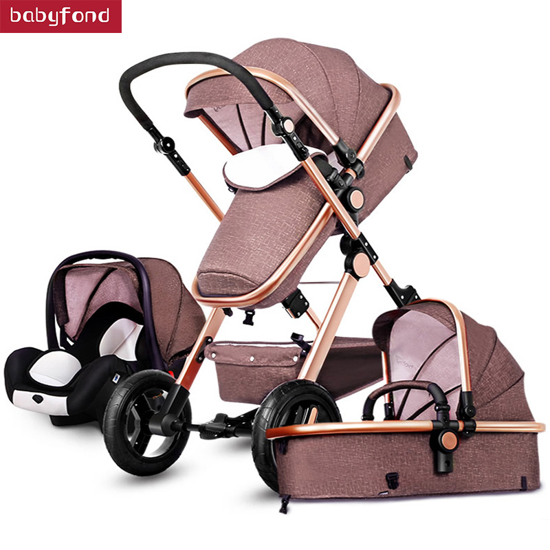 HK Eurpole high landscape baby stroller luxury 3-in-1 trolley luxury strollers effectively reduce the vibration umbrella car все цены