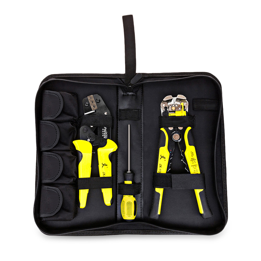 4 In 1 Multifunctional Ratchet Crimping Tool Wire Strippers Terminals Pliers Wire Crimper Tools Kit Engineering Ratchet Terminal new jx d4301 multifunctional ratchet crimping tool wire strippers terminals pliers kit