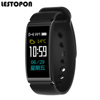 LESTOPON New Smart Bracelet Band Bluetooth Waterproof Fitness Tracker With Heart Rate Monitor Pedometer Watch Blood