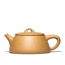 240ml Flat cover stone scoop Yixing Raw ore household teapot Zisha teapot  Chinese Style Kung Fu tea set gift Sesame section mud yixing yixing teapot tea manufacturers selling authentic tea all over the mud ore section of baxian mixed batch