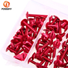 Hot Aluminum 6mm Red Motorcycle Complete Fairing Bolts Kit Fastener Clips Screws For Universal Sportbikes Motorcycle