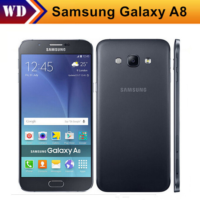 Dorigine Samsung Galaxy A8 Duos Debloque 4G GSM Android Mobile A8000 Telephone Octa Core