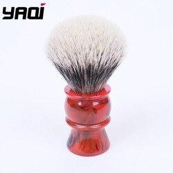 Yaqi 24MM cepillo de afeitar de dos bandas de pelo de tejón
