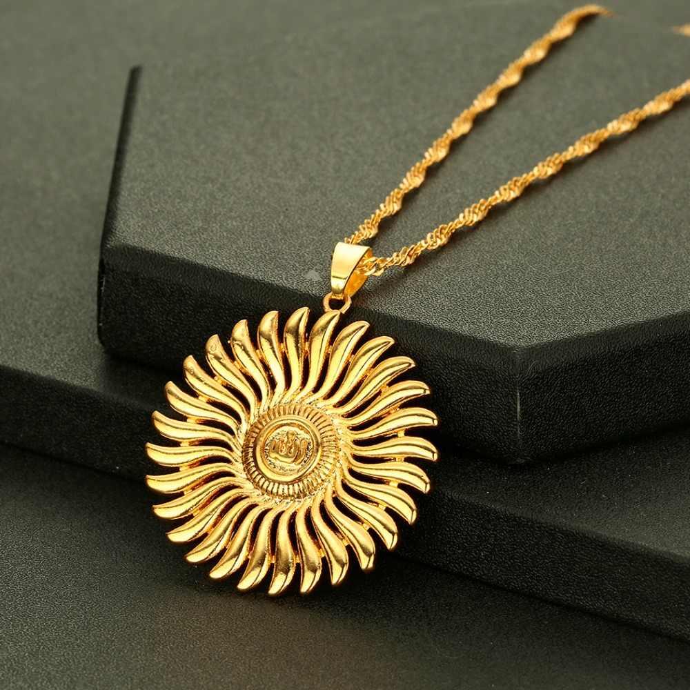 CHENGXUN Allah wisiorek naszyjniki małe kobiety biżuteria arabska Islam mohammeda naszyjnik złoty kolor muzułmańskich na bliskim wschodzie łańcuszek z wisiorkiem
