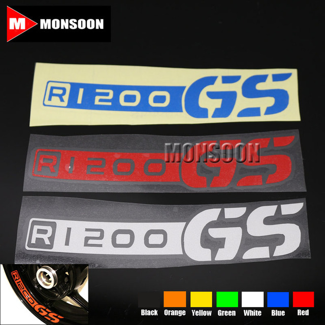 For bmw r 1200 gs r1200gs r1200 gs motorcycle front rear custom inner rim decals