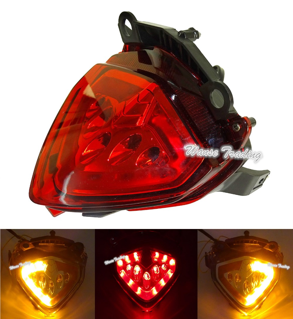 Taillight Tail Brake Turn Signals Integrated Led Light Red For 2013 2014 2015 HONDA CBR500R CB500F CB500X CBR 500R CB 500F 500X e marked taillight tail brake turn signals integrated led light smoke for 1991 1992 1993 1994 1995 yamaha fzr1000 fzr 1000 exup