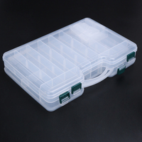 Big Capacity Durable Sided Transparent Visible ABS Fishing Tackle Boxes Fishing Lure Storage Case 29 19