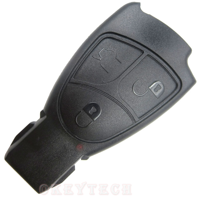 Replacements 3 Buttons SMART Remote Key Fob Case Cover For Mercedes Benz B C E ML S CLK CL 3B 3BT car key shell with benz logo