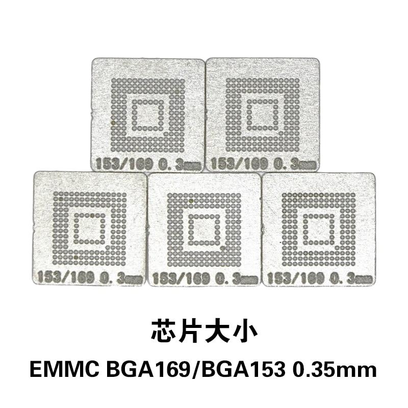 NOVFIX Hot Sale 5PCS/Lot EMMC BGA169 BGA153 Stencil Template 0.3MM BGA Stencil Direct Heating Reballing Stencil