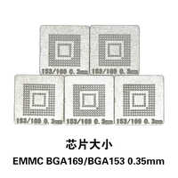 NOVFIX Hot Sale 5 pçs/lote BGA169 BGA153 EMMC BGA Stencil Direto Aquecimento Stencil Reballing Template Stencil 0.3 MILÍMETROS
