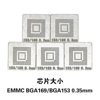 цена NOVFIX Hot Sale 5PCS/Lot EMMC BGA169 BGA153 Stencil Template 0.3MM BGA Stencil Direct Heating Reballing Stencil онлайн в 2017 году