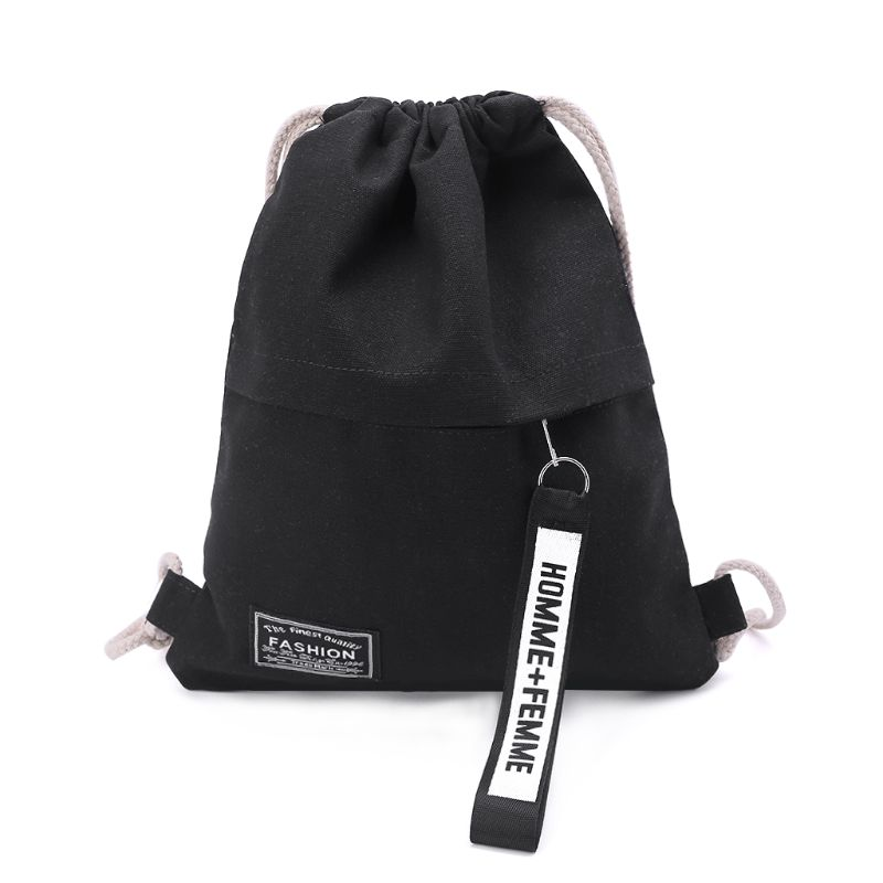 1477b7cf01e5 US $4.45 35% OFF|Hot Sale Cinch Sack Canvas Storage School Gym Drawstring  Bag Pack Rucksack Backpack Pouch-in Drawstring Bags from Luggage & Bags on  ...