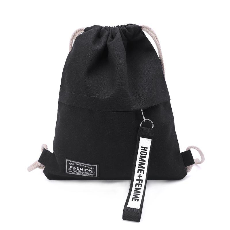 Hot Sale Cinch Sack Canvas Storage School Gym Drawstring Bag Pack Rucksack Backpack Pouch