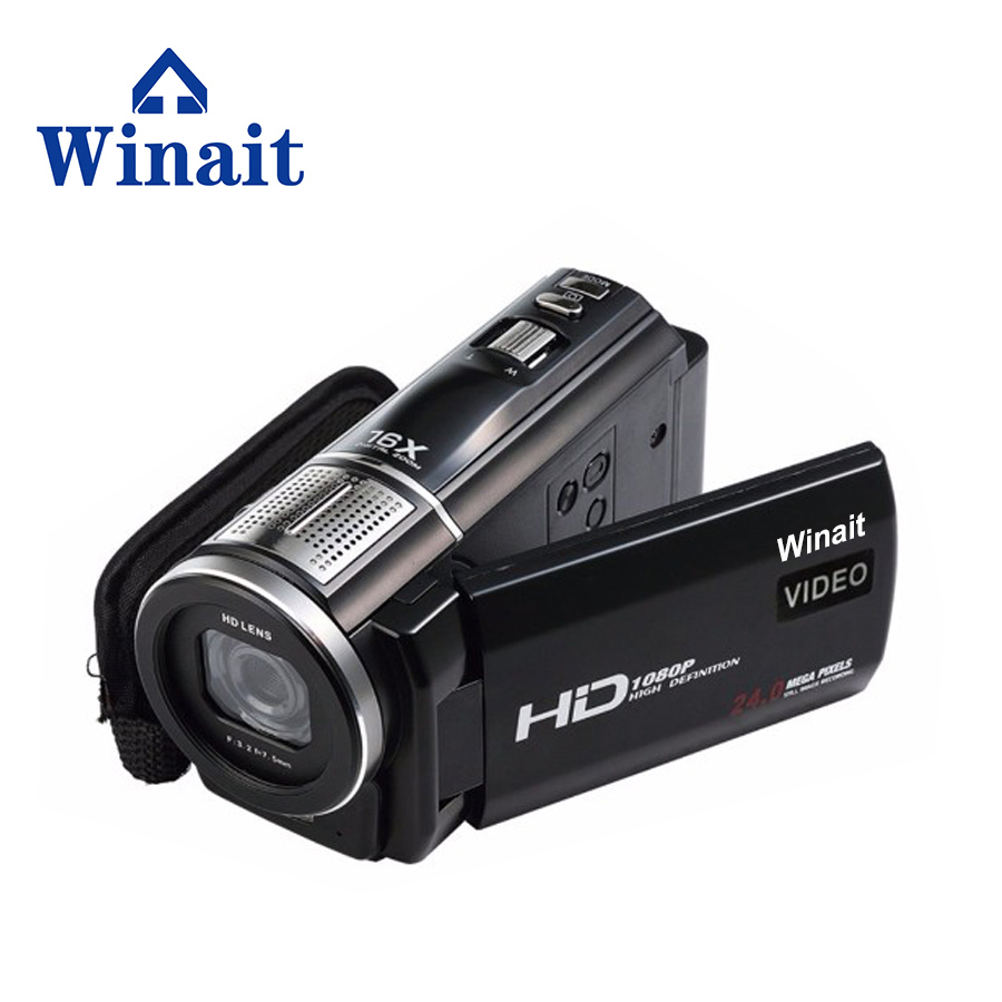 Winait  Newest High Quality Digital Video Camera Camcorders 1080P 24MP Rotatable Touch Screen LCD With Remote Controller HDV-F5