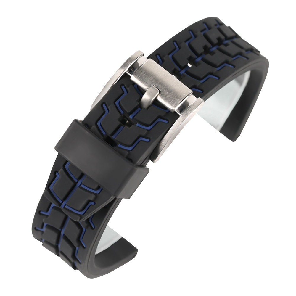 20mm 22mm 24mm Soft Silicone Sport Watch band for Men Children Watches Replacement Anti-Sweat Rubber Wristband Strap Bracelet jansin 22mm watchband for garmin fenix 5 easy fit silicone replacement band sports silicone wristband for forerunner 935 gps