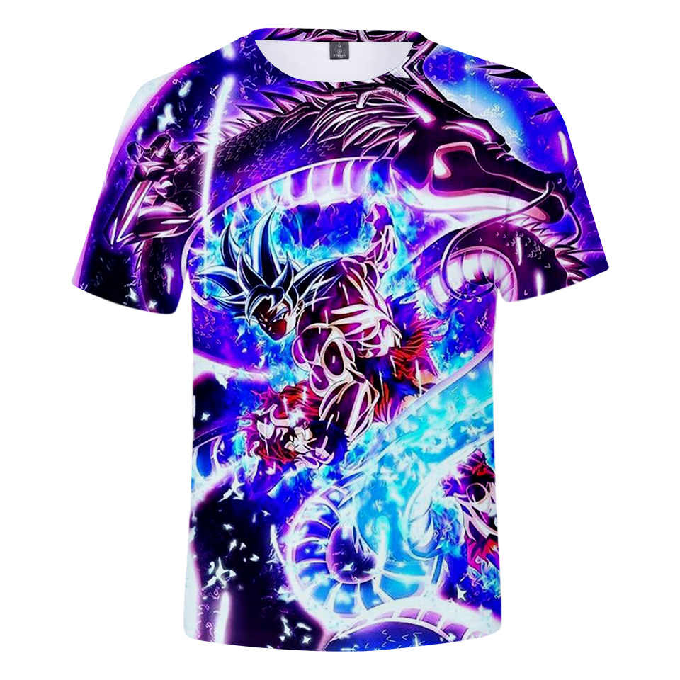 Японские Аниме Dragon Ball Z футболки мужские летние 3D принт Супер Саян Гоку Zamasu Vegeta Dragon Ball Повседневная футболка Топы