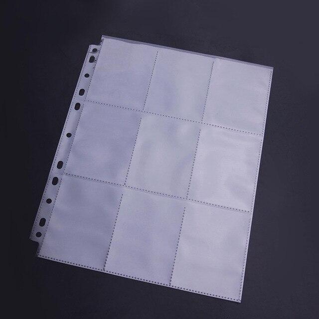 30 Páginas/Lot 9 Bolsillos Protectores De Cartas Tarjeta de Páginas ...