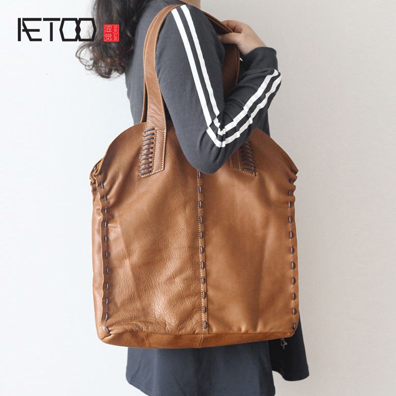 AETOO The original new head of the first pair of leather bags of Europe and the United States retro large capacity luggage bag b smc the new head of passing filter aff150a 40