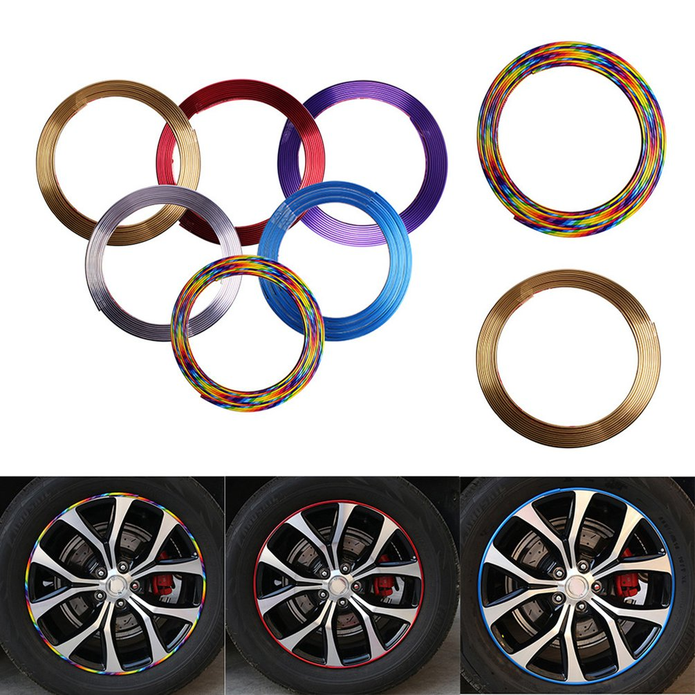 Automobile Car Auto Wheel Rim Protectors Rings Alloy Gators 8 Meter Decor Guard Line Strip Protection Strip