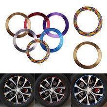 8 Meter/Rotolo Car Styling Automobile Wheel Rim Protector Decor Striscia di Gomma Stampaggio Trim Auto Veicolo di Colore Pneumatico Guardia linea