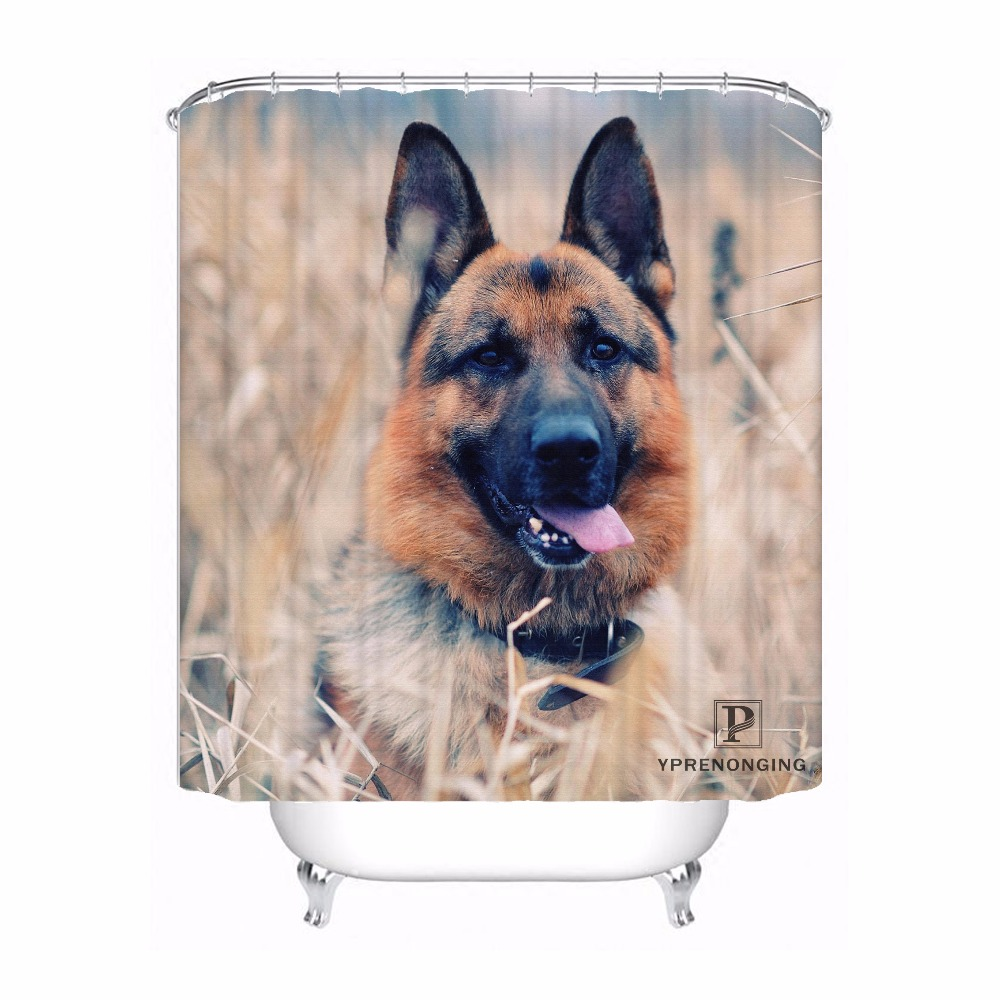Custom German Shepherd Dog Waterproof Shower Curtain Home Bath Bathroom s Hooks Polyester Fabric Multi Sizes#180421-Sina-08