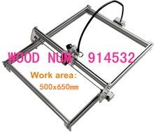1000 mw bricolage bureau mini laser gravure machine marquage sculpture machine, 500*650 visage de travail