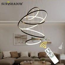 Ceiling Modern LED Pendant Light For Living room Dining room Bedroom Kitchen Luminares Circle Led Pendant Lamp Lighting Fixtures стоимость