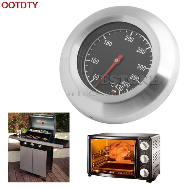 60degree~430degree Barbecue BBQ Pit Smoker Grill Thermometer Temperature Gauge Celsius