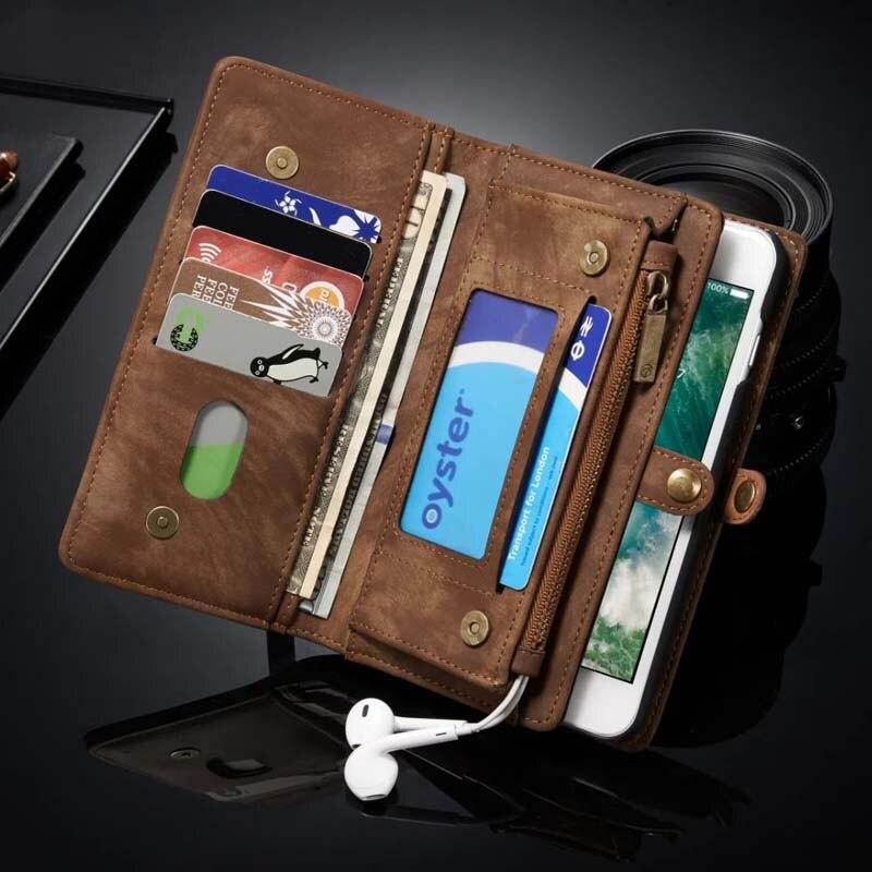 bilder für Luxus Ursprüngliche Echte Ledertasche Brieftasche Flip Handytasche Fällen Leder coque abdeckung für iphone 6 6 s 6 plus 6 splus 7 7 plus js0366