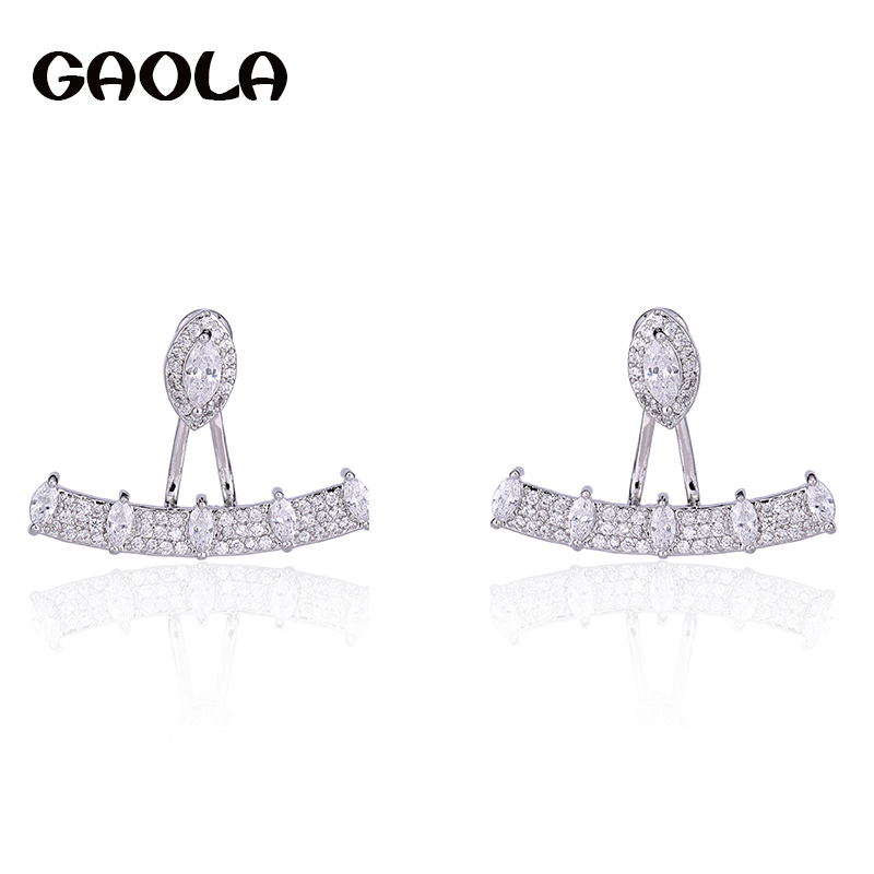 GAOLA Women Geometric Zirconia Pave Setting Stud Earrings Unique Dress Patry Accessaries GLE6047Y