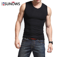 Free Shipping The new mens wide shoulder cotton vest Sleeveless breathable stretch tank top male of fitness #7171